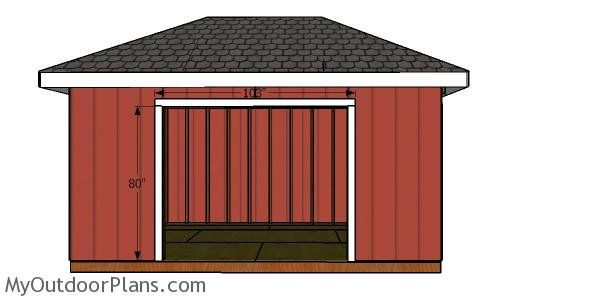 Door Jambs 10x16 Hip Roof Shed Hip Roof Shed Building A Door