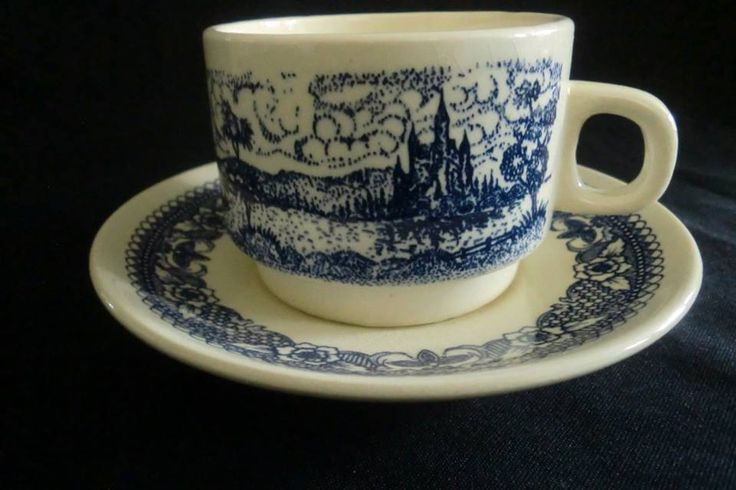 Cup and Saucer (Lozapenco) Chile .c 1960.