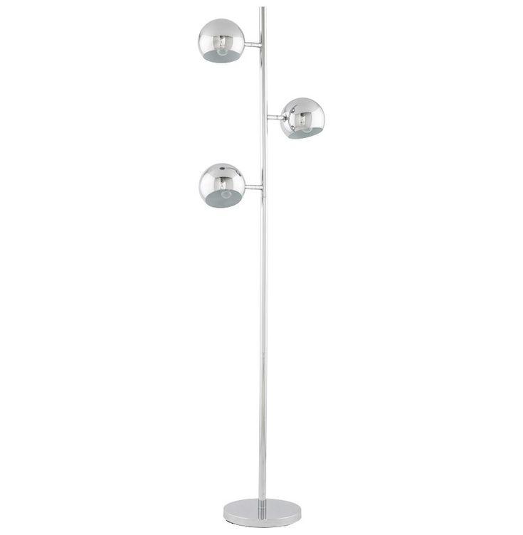 Staande lamp 'TRYA' met 3 verstelbare metalen lampenkappen