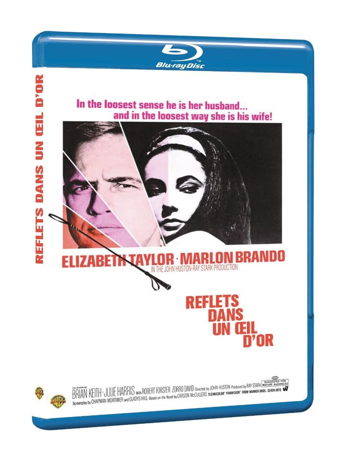 Reflections in a Golden Eye - Blu-Ray (Warner Bros. France Region Free) Release Date: Available Now (Amazon France) *Note: Available Now on Blu-Ray in an 'Ultimate Edition' with both color (on Blu-Ray and DVD) and the gold tinted version (on Region 2 DVD) (Amazon France) Also, we're not sure if either of these Blu-Rays contain forced French subtitles.