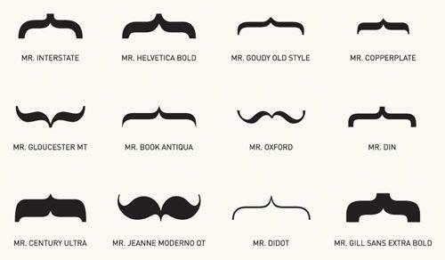 mustache fonts.