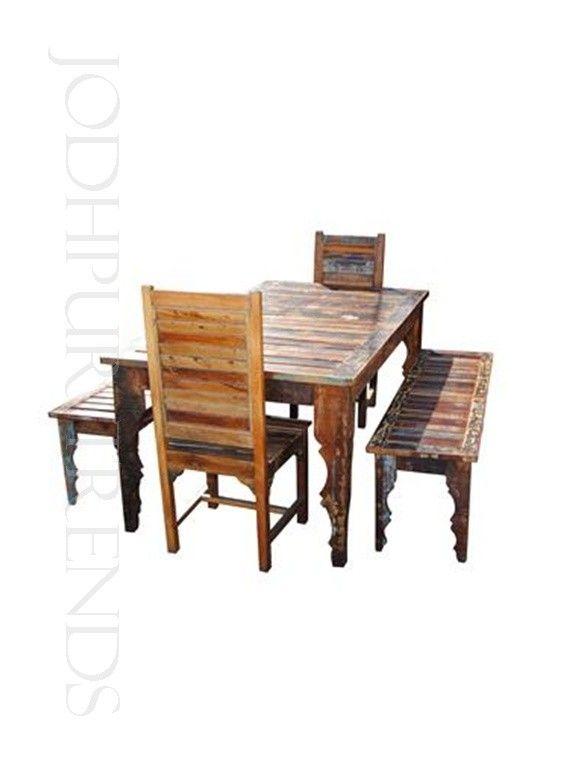 Classic Reclaimed Dining Set Restaurant Dining Sets Restaurant