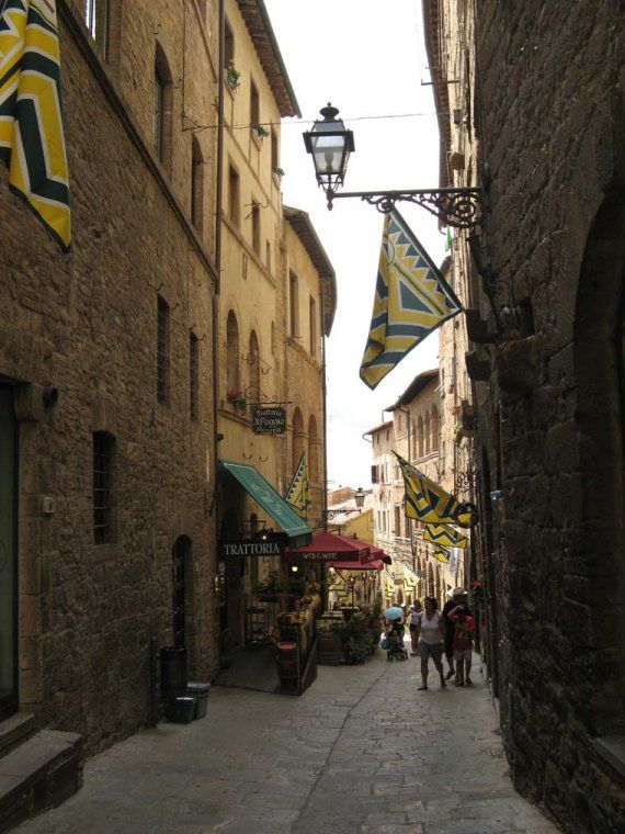 The medieval streets of Volterra turn into a beautiful stage for the Medieval festival held here every August, the AD 1398 festival.