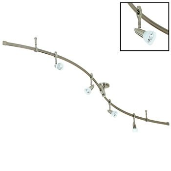 "Nora NRS21-252 8' ""S"" Curved Rail Kit with (4) New Mirage Fixtures  Item# NRS21-252  Regular price: $466.88  Sale price: $326.81"