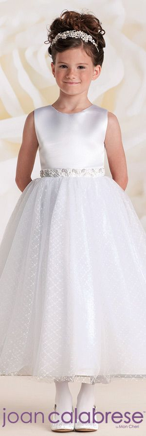 First Communion Dresses by Joan Calabrese for Mon Cheri Spring 2015 - Style No. 115320  calabresegirl.com #firstcommuniondresses