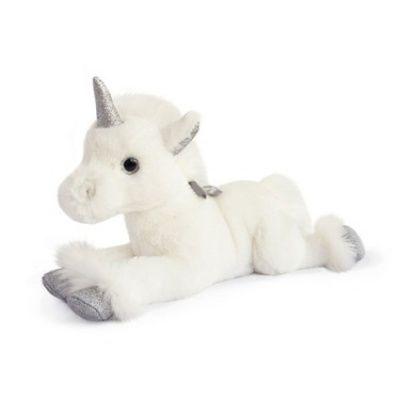 Cette peluche Licorne d'Histoire d'Ours est adorée par les enfants avec sa corne et ses pattes avec des paillettes argent. #histoiredours #licorne #unicorn #peluche #paillettes #argent