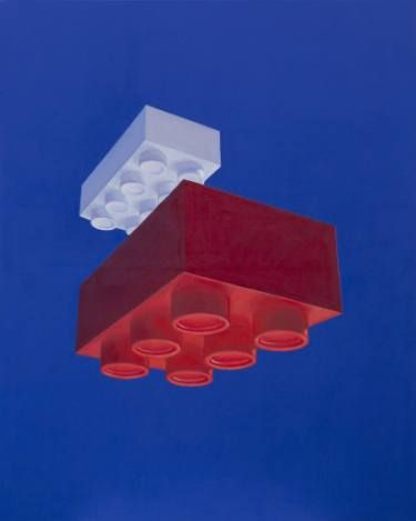 "Saatchi Art Artist sebastian sleczka; Painting, ""Bricks"" #art"