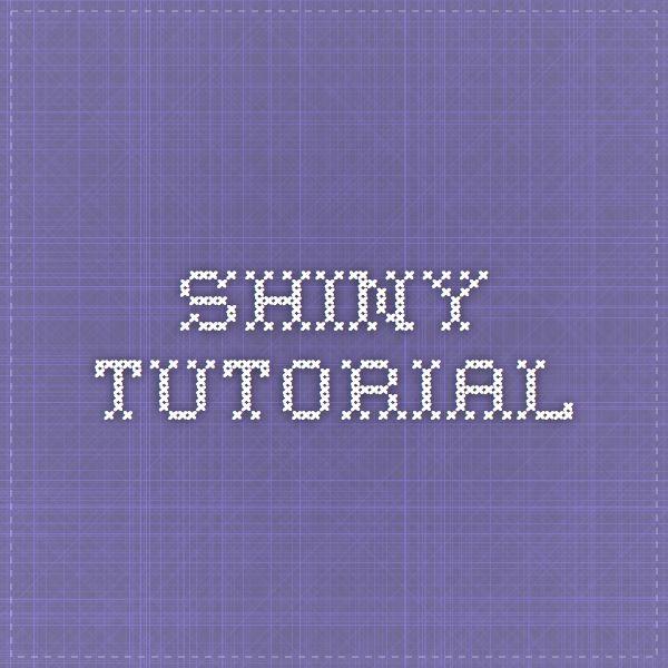 shiny tutorial