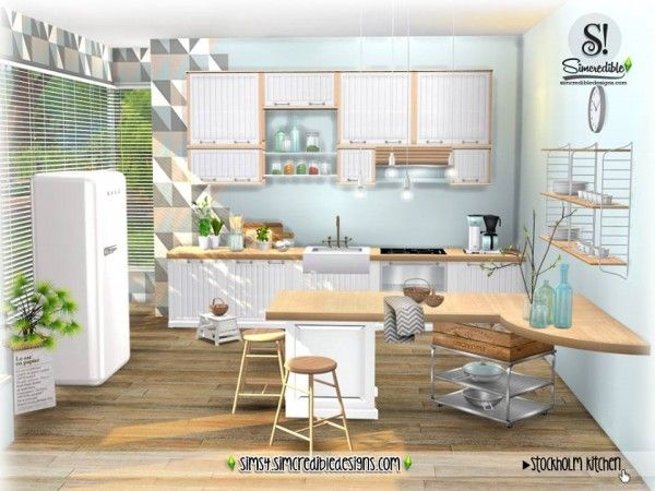 SIMcredible Designs: Stockholm Kitchen • Sims 4 Downloads