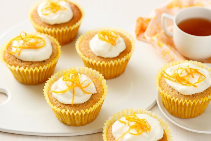Cauliflower citrus cupcakes