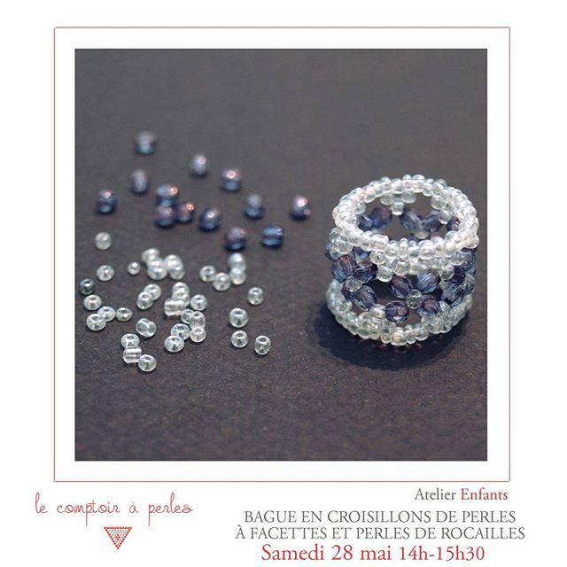 ATELIER ENFANTS - Marre des week-ends pluvieux? Profitez-en pour stimuler votre créativité et vous initier à la création de bijoux! Au programme, une bague originale de princesse pour l'atelier enfants! Réservez votre place -> lien dans la bio :) #lecomptoiraperles #perles #beads #bague #ring #beading #beadaddict #rocaille #seedbead #seed #couleurs #colors #princesse #princess #faitmain #DIY #handmade #handmadejewelry #instajewels #atelier #workshop #paris #creation #creativity #creativité…