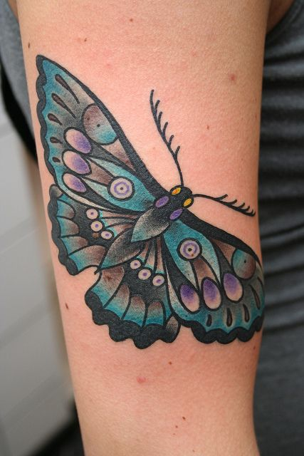 Dane Mancini Inkamatic trieste tattoo traditional butterfly by elisa.jolie, via Flickr