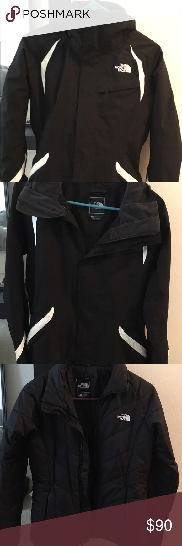 Barely worn womens north face 2 piece coat It can be worn all together for a nice winter coat, or either of the two pieces can be worn separately for a light jacket. Perfect condition The North Face Jackets & Coats Utility Jackets