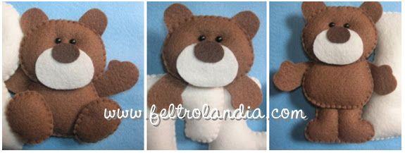 Enfeite Maternidade - Móbile Ursos - Feltrolândia - O mundo mágico do Feltro