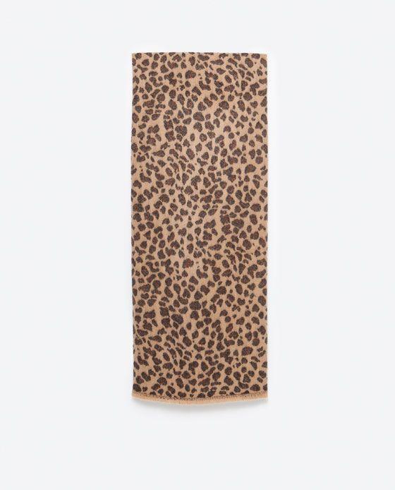 Image 1 of ANIMAL PRINT SCARF from Zara