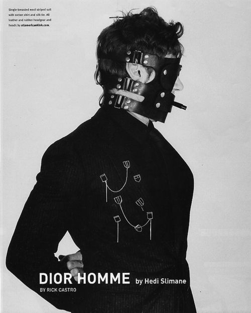 Dior Homme by Hedi Slimane for Flaunt 2002 by Rick Castro