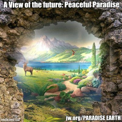 Revelation 21;3-4, verse 4~''And he will wipe out every tear from their eyes, and death will be no more, neither will mourning nor outcry nor pain be anymore. The former things have passed away.''