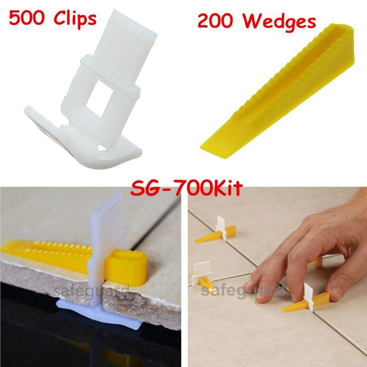 500 Clips + 200 Wedges 700 Tile Leveler Spacers Lippage Tile Leveling System #SGLeveling