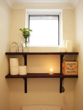 Dare to DIY: Reclaimed Wood Toilet Shelves | House Nerd   – Yeronga toilet – #Di…   – most beautiful shelves