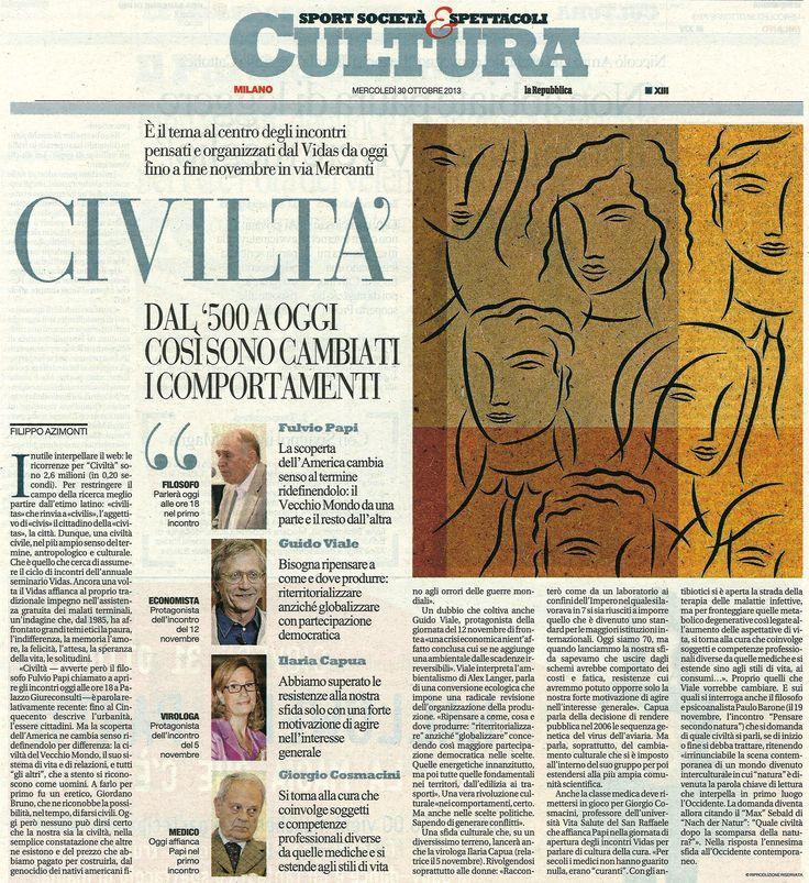 Repubblica 30 ottobre #seminari13 #civiltà