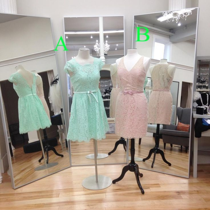 Cheap Bridesmaid Dresses Online 2016 New Arrival 2 Different Lace Bridesmaid Dresses Jewel/V Neck Mint Pink Lace Knee Length Bridesmaid Gowns Custom Made Bronze Bridesmaid Dresses From Nicedressonline, $109.65| Dhgate.Com