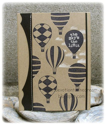 Stampin' Up! Up, Up and Away...love it in black on kraft.