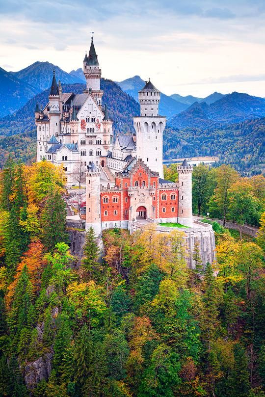 Neuschwanstein Castle is Germany's most famous castle, but you probably recognize it as belonging to Sleeping Beauty.