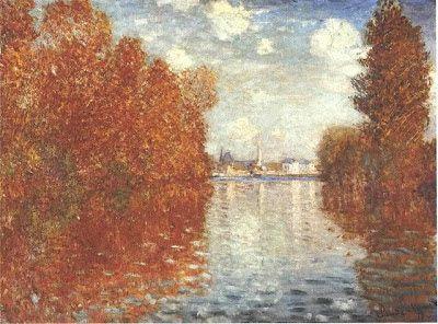 ". Claude Monet  ""Autunno in Argenteuil"""