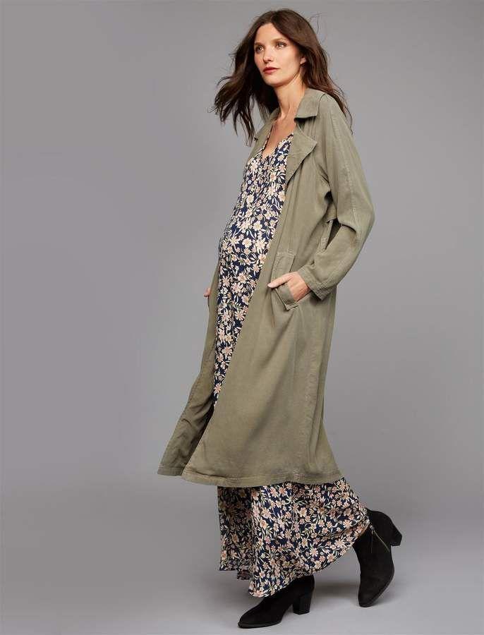 65dfb21e333ed Rachel Pally Tie Detail Twill Maternity Trench Coat. rachel pally maternity  trench coat tie detail tencel twill long sleeve machine washable imported.