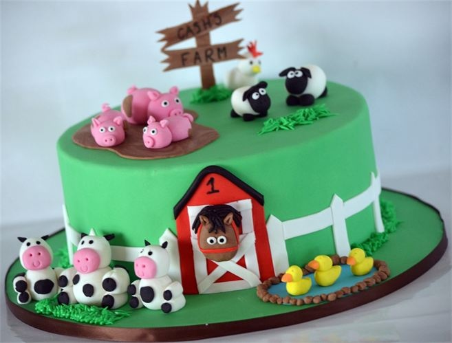The 123 best images about Cakes - Farm Animals on ...