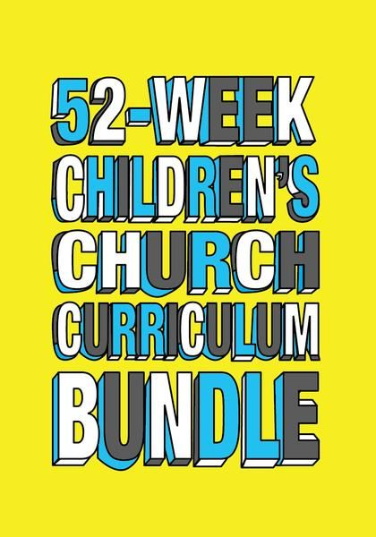 Save a ton of money with this 52-Week Children's Church Curriculum Bundle Deal from Children's Ministry Deals. Perfect for Children's Church or Sunday School.