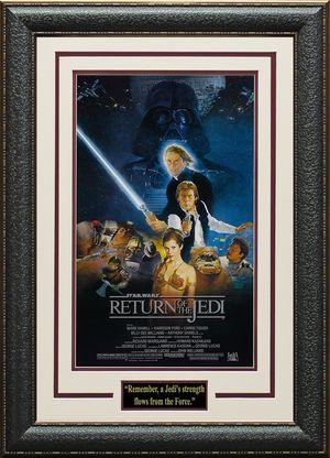 Star Wars Episode VI Return of the Jedi 11x17 Mini Movie Poster Display.
