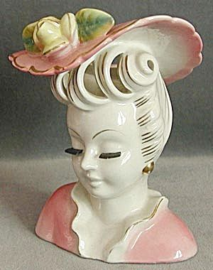 560 Best Lady Head Vases Images On Pinterest Wall Pockets Flower Pots And Vintage Ladies