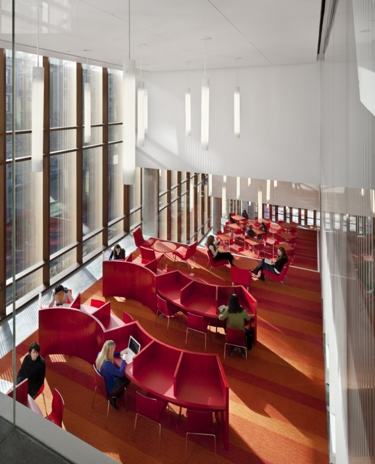 Lovely quiet study space -- Barnard college