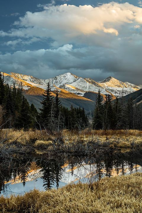 Sunset on Ten Mile Range Colorado US Say Yes To Adventure