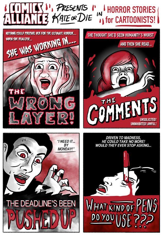 'Kate or Die' in 'Horror Stories for Cartoonists'