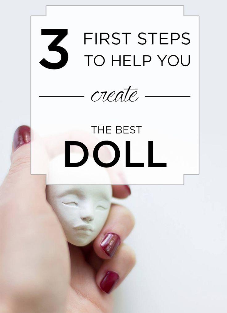 Los primeros pasos importantes en la toma de la muñeca.  + Imprimir gratis por Adele Po.