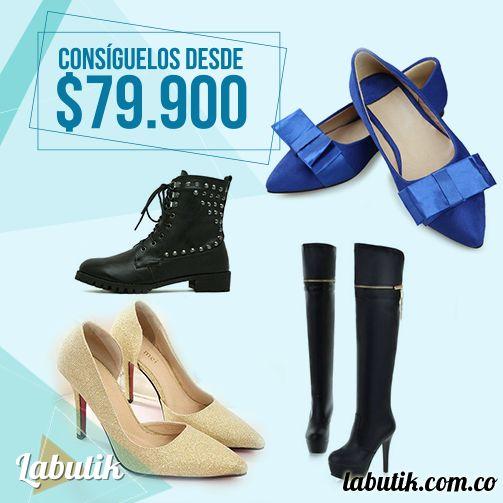 Cuatro zapatos básicos para tener en el armario.  Encuéntralos en www.labutik.com.co