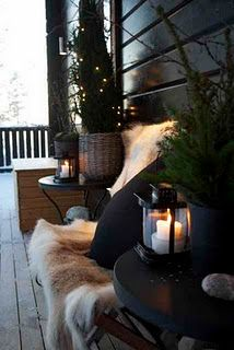 cozy christmas porch