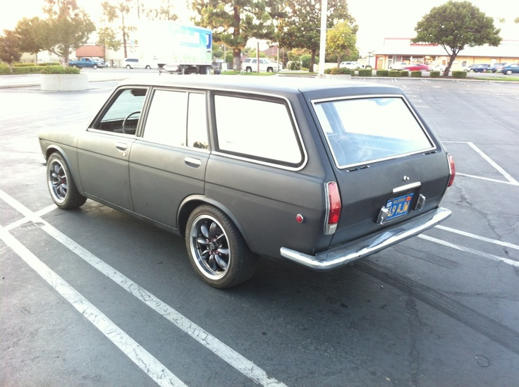 Primer Black Datsun 510 Wagon