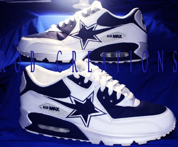 Dallas Cowboys Custom Air Max 90 /  11.5 Men  by ROBcreations