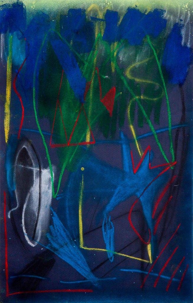 ArtBanana Matyáš Maláč: Bez názvu | pastel na papíře | 32x52 cm 2015 | 1800 Kč | 66 EUR | 74 $ www.artbanana.cz