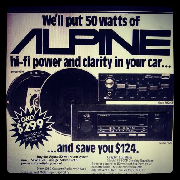 vintage electronics ads | Vintage Alpine Car Audio Ad | Alpine Electronics | Pinterest | Alpine ...