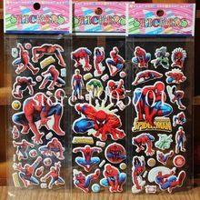 Mezclar 3 unids Juguetes Avenger Superhero Spiderman Pegatinas de Pared de Dibujos Animados pegatinas de Burbuja Precioso Recompensa niños Decoraciones Del Partido del Favor del Regalo(China (Mainland))