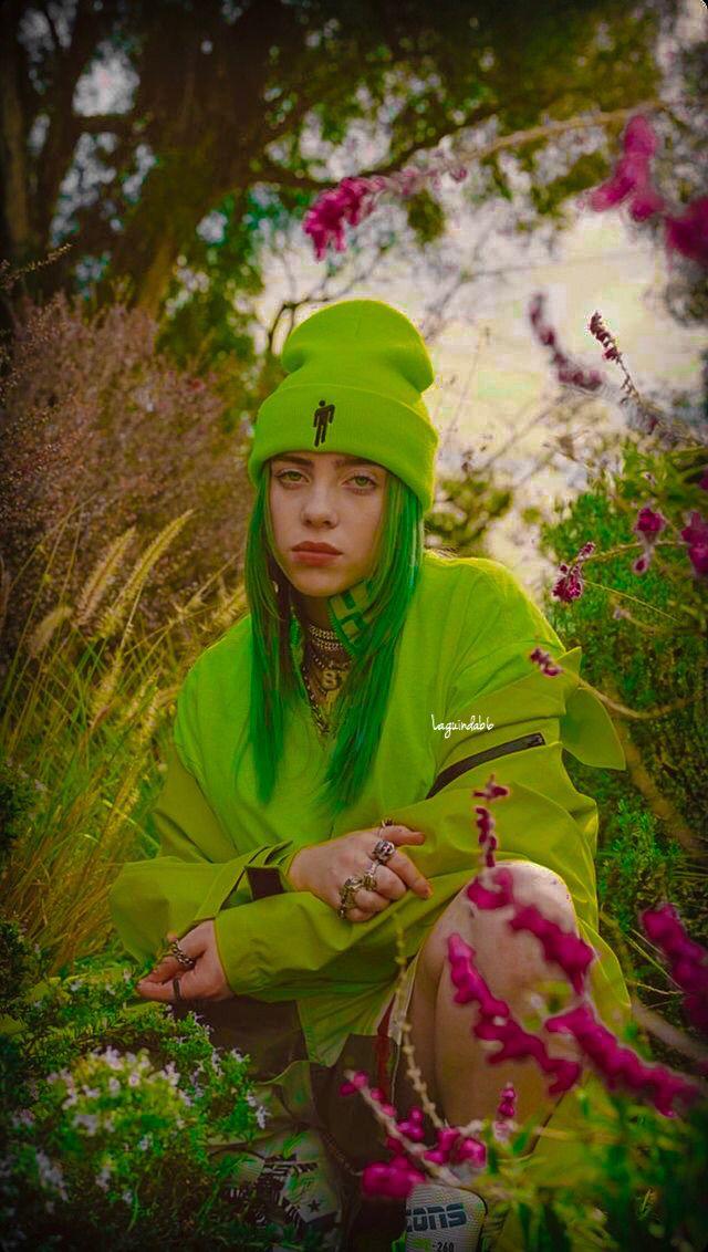 Billie Eilish Edit Laguindab6 Billie Eilish Billieeilish Green Billie Eilish Billie Green Aesthetic