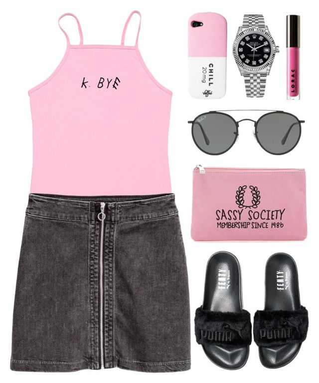 """""""summer style"""" by anabelisstyle ❤ liked on Polyvore featuring Puma, Rolex, LORAC, Ray-Ban and Forever 21"""
