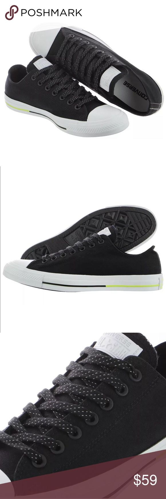 Converse OX Black White Volt Counter Climate NEW Converse CTAS OX Black White Volt Women's 10.5 Counter Climate NEW 153798F. Counter climate fabric technology keeps shoes and feet dry. Brand new, never worn shoes with original box as pictured. Converse Shoes Sneakers