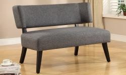 NASSAU SETTEE, CHARCOAL - Use it as a bench in a hallway or entryway or even with a dining table