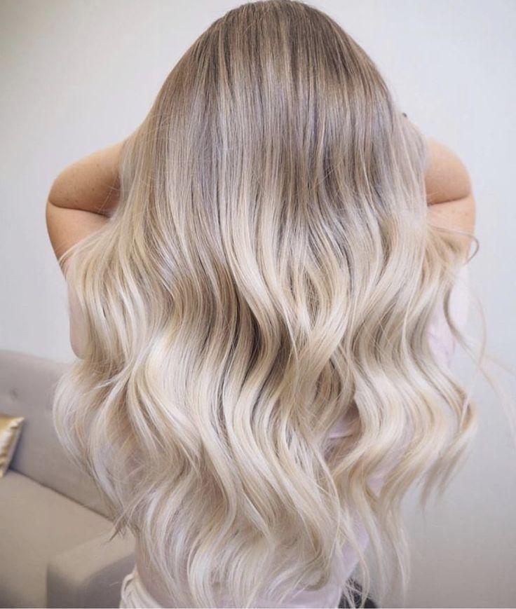 Soft baby blonde hair balayage #blondebalayage #cu…