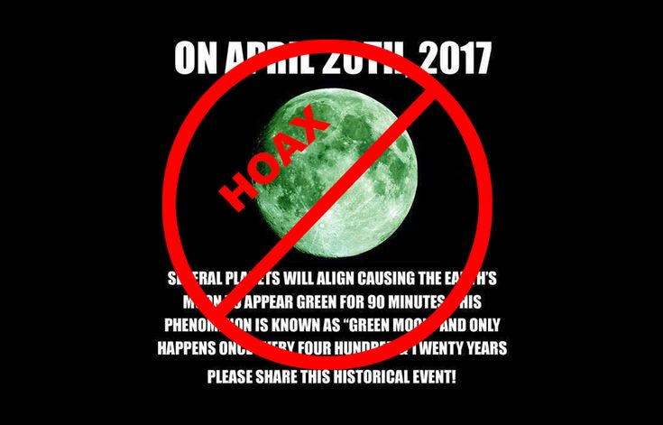 A green moon? Not really.